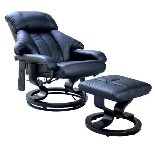 Massagesessel 10 Massage Punkte Relaxsessel Fernsehsessel TV Sessel mit Heizfunktion inkl. Hocker