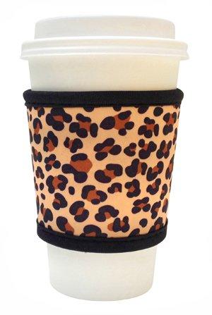 Joe Jacket Neoprene Drink Insulator Sleeve, Leopard front-1051790