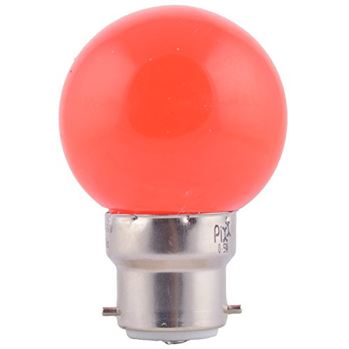 0.5W LED Night Lamp (Red, Pack of 6)