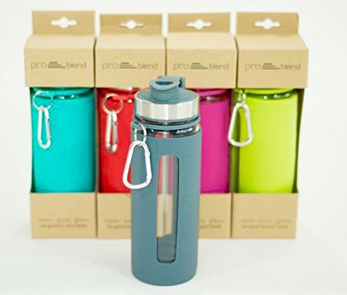 Protein Shaker Lid: Pro Blend Glass Protein Shaker And Water Bottle 4mm Thick