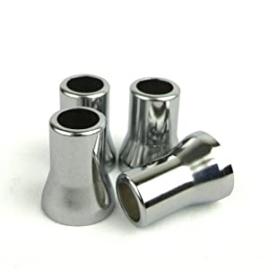 Quick Pressure - TR413 Valve Sleeves (4 units/pack) - Chrome Plated Brass