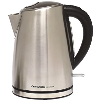 Handsomely constructed of high-quality brushed stainless steel, this cordless electric kettle offers a 1 3/4-quart water capacity and 1500-watt of power which boils water faster than the stove or microwave oven. This cordless kettle lifts from the co...