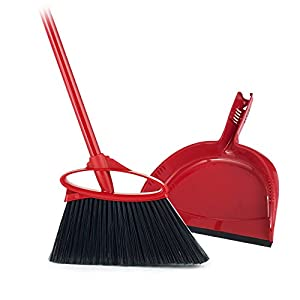 angler angle broom with dust pan red broom. Black Bedroom Furniture Sets. Home Design Ideas