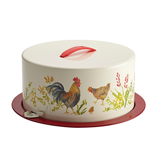 Pantryware Metal Cake and Pie Carrier, Garden Rooster (Paula Deen Pie compare prices)