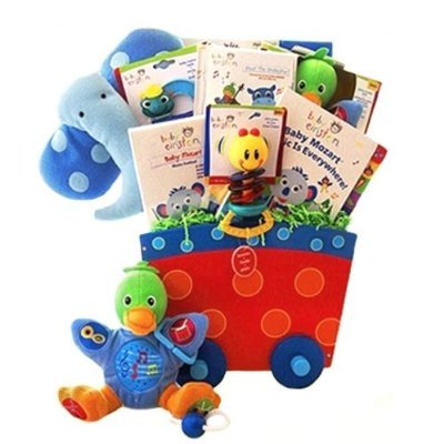 Baby Einstein Music Themed Educational New Baby Gift Basket - Great Shower or Christmas Holiday Gift Idea