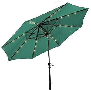 Patio Furniture Patio Umbrella This Is Premium 10 39 Patio Solar Umbrella Led Patio