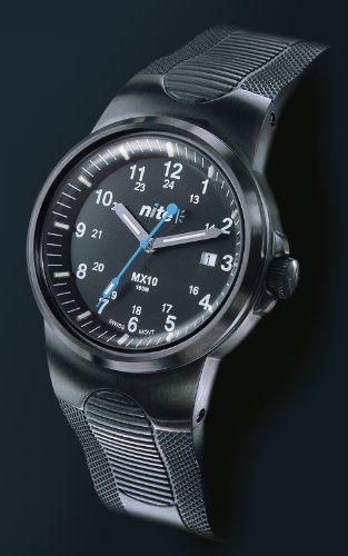 Nite MX10 - 201 Black Case Watch Black Polymer Strap / Black Dial