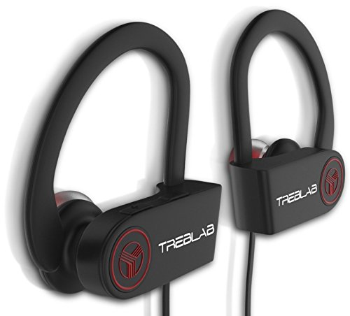 Bluetooth-Earbuds-TREBLAB-XR100-Best-Wireless-Headphones-For-Running-or-Workout-Secure-Fit-Sweat-Proof-9-Hour-Battery-True-HD-Sound