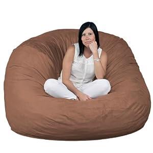 fugu bean bag chair brown large 5 39. Black Bedroom Furniture Sets. Home Design Ideas