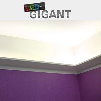 ecoline profil 5 45x87mm led streifen stripes indirekte deckenbeleuchtung beleuchtung. Black Bedroom Furniture Sets. Home Design Ideas