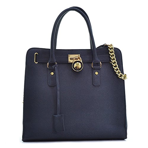 dasein-large-saffiano-leather-tote-shoulder-bag-with-chain-shoulder-strap
