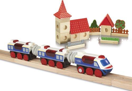 Imagen principal de Eichhorn 100004968 - Tren con locomotora con infrarrojos (varias funciones, 4 piezas, 32 cm) (Simba Dickie)