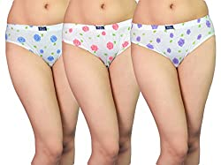 Vimal Floral Print Cotton Panties (Pack Of 3)