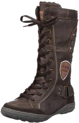 Mustang Stiefel Boots Girls Brown Braun (dunkelbraun 32) Size: 40