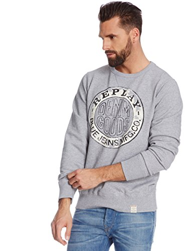 Replay -  Felpa  - Uomo Grey Medium