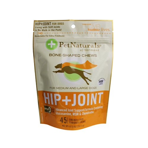 Pet Naturals of Vermont Hip and Joint for Medium and Large Dogs Chicken Liver - 45 Soft Chews (Vermont Naturals Hip And Joint compare prices)