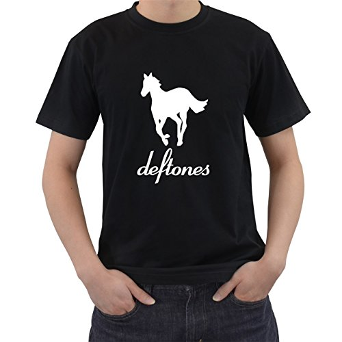Hot Deftones White Pony T-Shirt Short Sleeve By Saink Black Size S