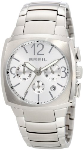 Breil Men's Quartz Chronograph Watch TW0765 with Stainless Steel Case, White Dial and Stainless Steel Bracelet