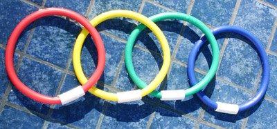 """Sprint Aquatics Super Size 10"""" Dive Rings - Set of 4 - 1"""