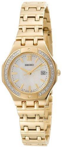 Seiko Women's SXDB34 Sporty Diamond Dress Gold-Tone Watch