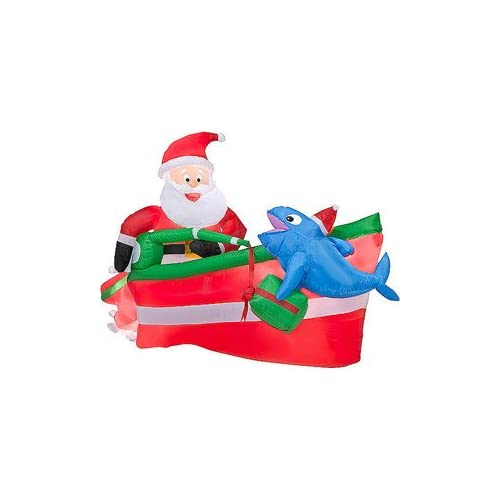 Christmas decoration lawn yard inflatable for Animated santa claus decoration