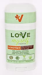 The MOST Clean, Organic and Natural Deodorant that Actually Works! Coconut Oil based, Aluminum Free, Vegan, All-Natural Organic Deodorant that keeps you Fresh Smelling. Great for Men, Women, Teens and Kids! The Love Myself Organics - LONGTIME Sandalwood B