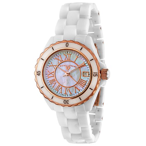Swiss Legend Women's 20050-WWRR Karamica Collection Ceramic Watch
