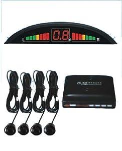 Black Rear Car Parking Reversing Buzzer & LED Sensors 4 safe sensor