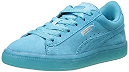 PUMA Suede Classic Iced Kids Sneaker (Little Kid/Big Kid/Little Kid) , Blue Atoll/Puma Silver, 2 M US Little Kid