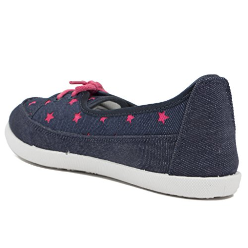 9a40db4b78b9c Buy Asian shoes LR-71 Navy Blue Pink Canvas Women Shoes on Amazon ...
