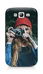 Amez designer printed 3d premium high quality back case cover for Samsung Grand Neo Plus (Photo taking girl green cute)