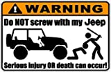 Warning Jeep Decal