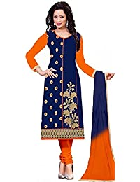 PETRICE Brand New Women's Clothing Best Designer Party Wear Semi_Stitched Cotton Fabric Top Free Size Salwar Suit...