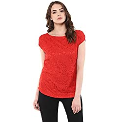 Raindrops Women's Top(1184B005F-Red-S)