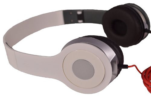 Flotera Adjustable Circumaural Over Ear Hifi Stereo Stero Earphone Headphone For Pc Mp3 Mp4 Ipod - Black, White, Black, Blue, Purple (White)