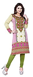 SANVARI FASHION Women's Crepe Straight Kurta (Event111-D, Multi-Coloured, XXL)