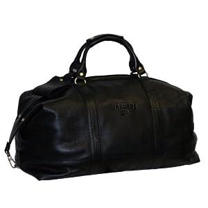 NFL Jacksonville Jags Debossed Black Leather Carry-on Bag by Team Sports America