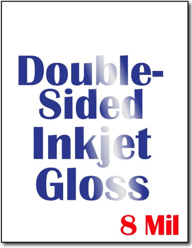 Cardstock, Double Sided Inkjet Gloss - 50 Sheets (Printer Double Side compare prices)
