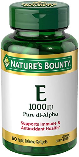 Nature's Bounty Vitamin E 1000 IU Pure dl-Alpha, 60 Softgels