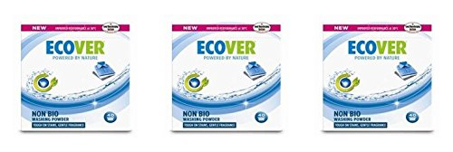 (3 PACK) - Ecover Concentrated Non Bio Washing Powder | 3kg | 3 PACK - SUPER SAVER - SAVE MONEY