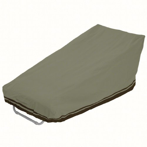 Classic Accessories Villa 55-026-013801-00 Patio Chaise Cover In Birch With Walnut Accent
