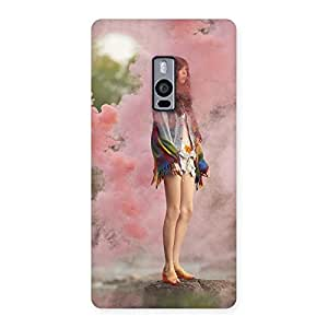 Ajay Enterprises Girl in colors Back Case Cover for OnePlus Two