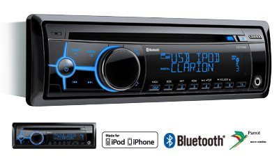 Buy Clarion Car Audio - Clarion Cz702e Cd/Mp3 Car Stereo With Variable Illumination With Built-In Bluetooth And Ipod Control