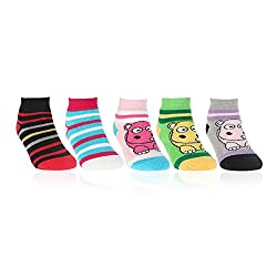 Bonjour Infant designer cushion 5 Pair socks _BRO952-01-PO5