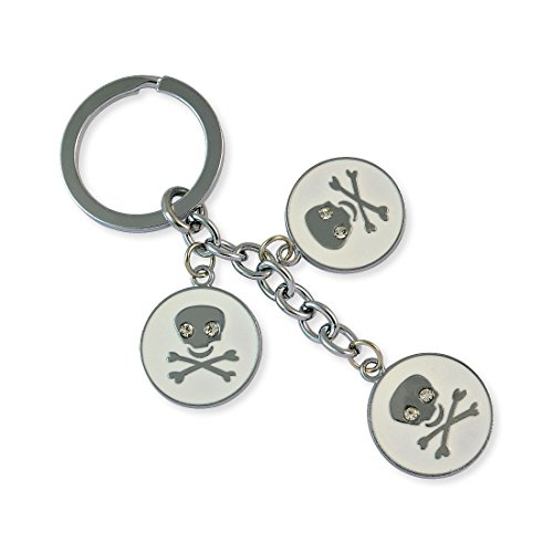 Danger Sign Silver Color Key Chain By Sarah - B00XJ9EGF4