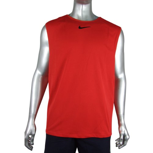 ce64dc6aad08 Vest Tops Men (UK)  Mens Red Nike Dri Dry FIT Running Vest T-Shirt ...