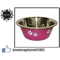 King International Stainless Steel Pink Designer Pet Bowl