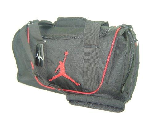 Galleon nike air jordan duffel bag black red jpg 500x375 Red jordan gym bag 28d18af9a7