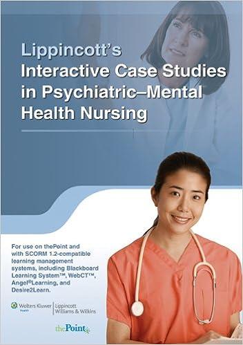 psychiatric nursing case studies online The american psychiatric nurses association defines psychiatric mental health nursing as specialty practice focusing on the mental health and psychiatric nursing.