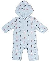 "Leveret Unisex-baby ""Designed"" Hooded Romper (1 Piece)"